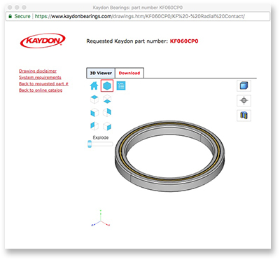 New 3D bearings catalog for thin section and slewing ring bearings
