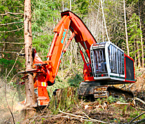 Kaydon Bearings - markets - heavy equipment - forestry feller buncher