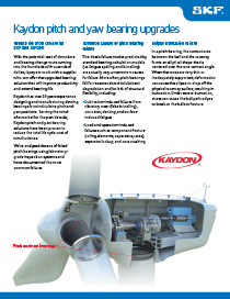 Kaydon pitch and yaw bearing upgrades brochure