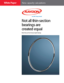 Kaydon new capacity calculations for thin-section bearings