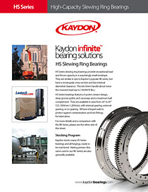Kaydon Bearings - HS slewing ring bearings data sheet