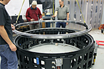 Kaydon Bearings - bearing install for MOSFIRE instrument on telescope, Keck Observatory, Hawaii