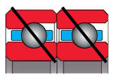 type T bearing - angular contact pair, duplexed tandem
