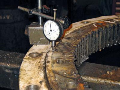 Kaydon bearing remanufacturing program: initial inspection