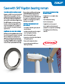 SKF Kaydon Remanufactured Pitch and Yaw Bearings brochure