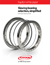 Nine steps for selecting the right slewing bearing - slewing bearing selection, simplified - Kaydon Bearings white paper