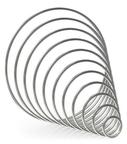 Kaydon Bearings - I cuscinetti a sezione sottile sono disponibili nelle misure comprese tra 3/4 inch e 40 inch. Gli spessori delle sezioni trasversali rimangono invariati.
